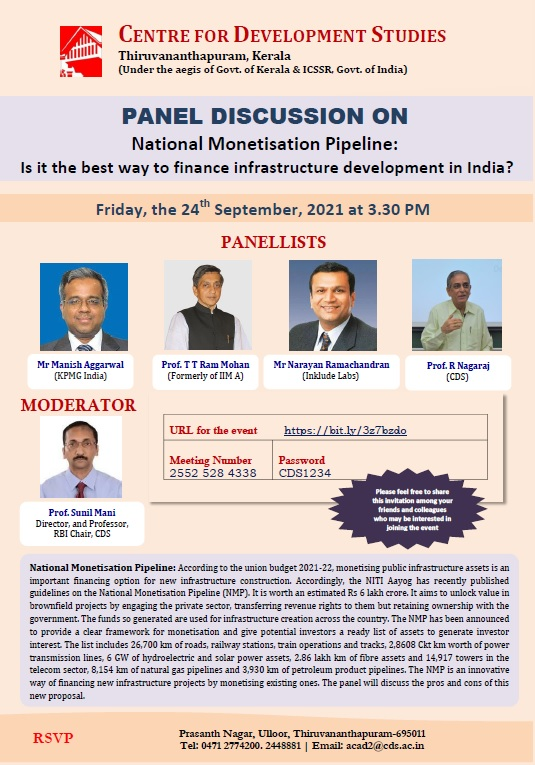 Panel Discussion on National Monetisation Pipeline